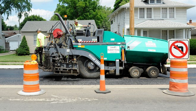 The city of Newark will pave more than 50 streets this year at a cost of $1.6 million.