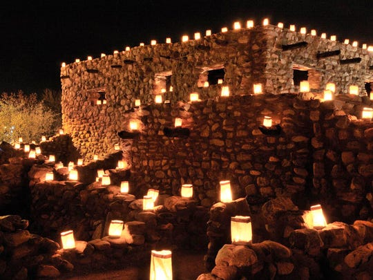 The Festival of Lights at Besh Ba Gowah archaeological park in Globe.