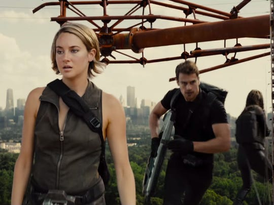 "Shailene Woodley and Theo James are back as Tris and Four in the third ""Divergent"" series film, ""Allegiant."""