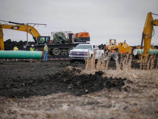 Construction continues on the Dakota Access pipeline