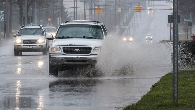 A flood watch will be in effect in the Lansing region from 6 p.m. Tuesday through Wednesday morning. Severe storms are possible, forecasters said.