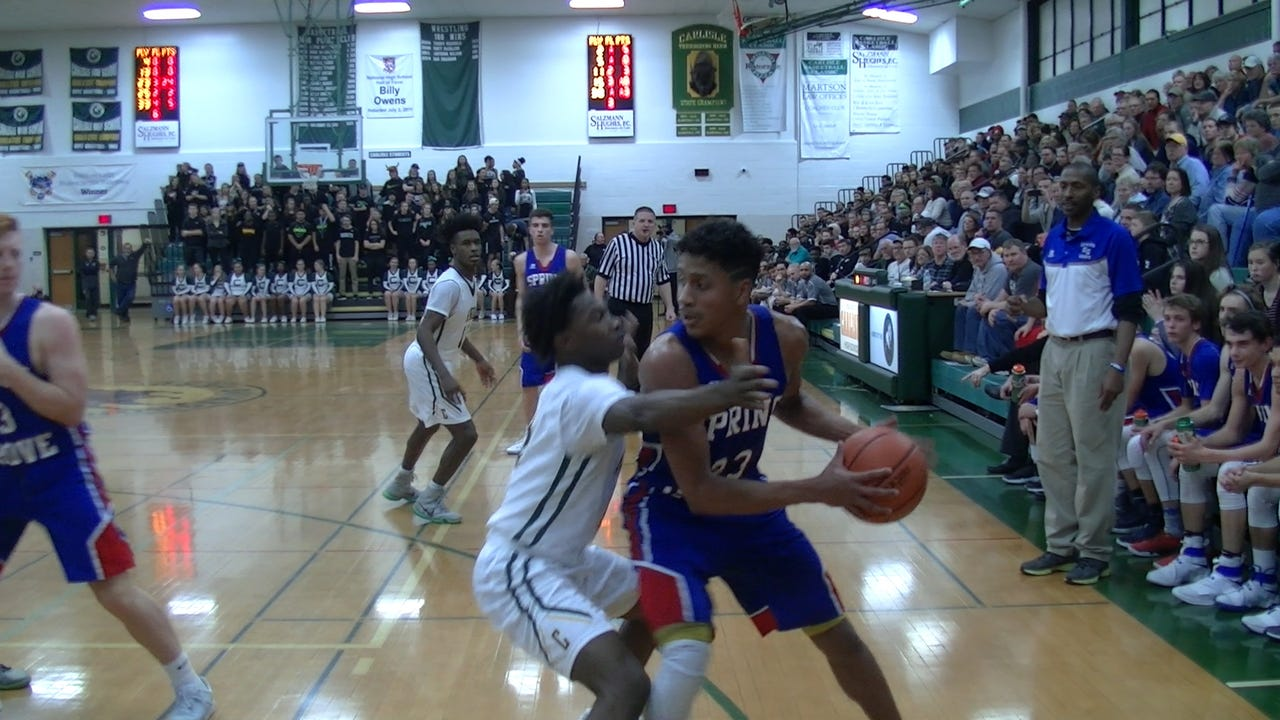 Watch two of the best players in District 3 basketball face off when Carlisle and Deshawn Millington hosted Spring Grove and Eli Brooks Monday, Jan. 16, 2017.