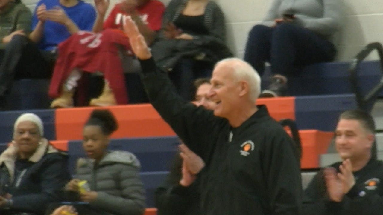 Terry Bupp ended his 48-year career as a high school basketball official, working his final game Friday, Feb. 3, 2017 at William Penn High School.