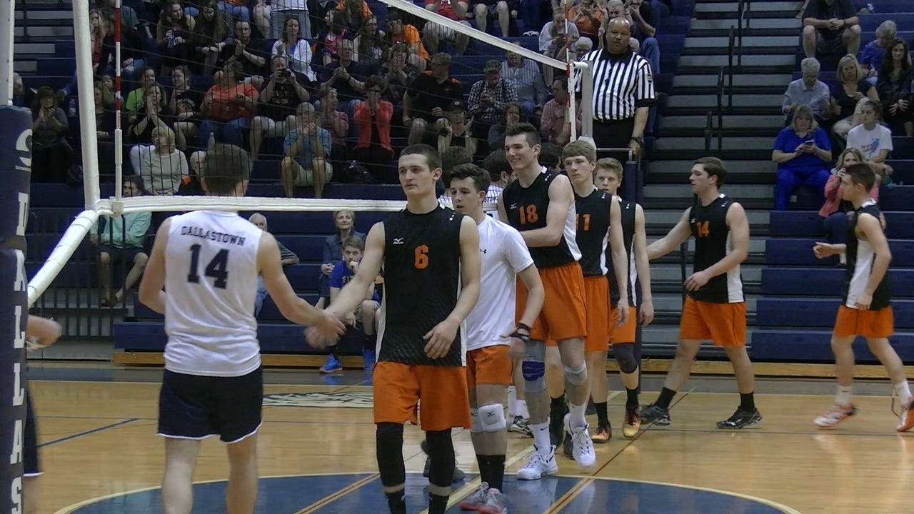Central York held off Dallastown, 31-29, 22-25, 25-21, 25-17, Tuesday, April 11, 2017 at Dallastown High School. Central entered the week ranked fourth in the state with an undefeated record in league play.