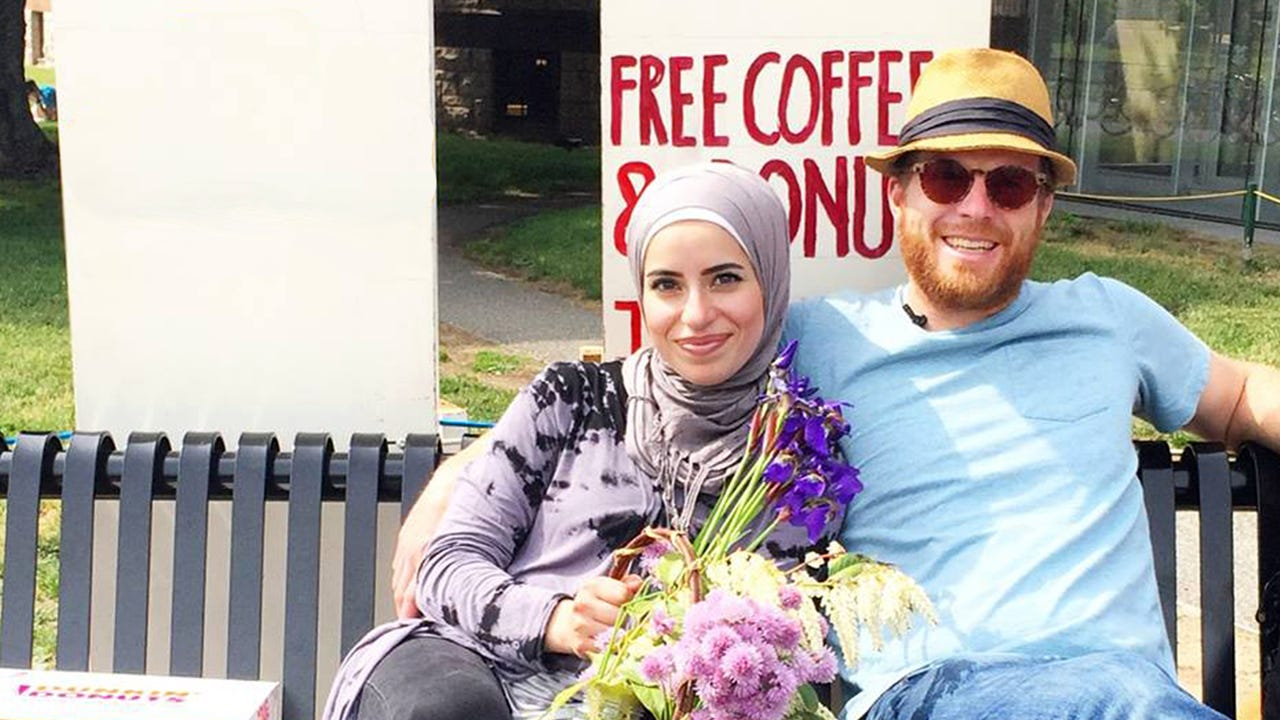 This couple devised a plan to combat the Islamophobia backlash in their community by offering free coffee and donuts. This is from a series of short films called The Secret Life of Muslims, created by filmmaker Joshua Seftel.