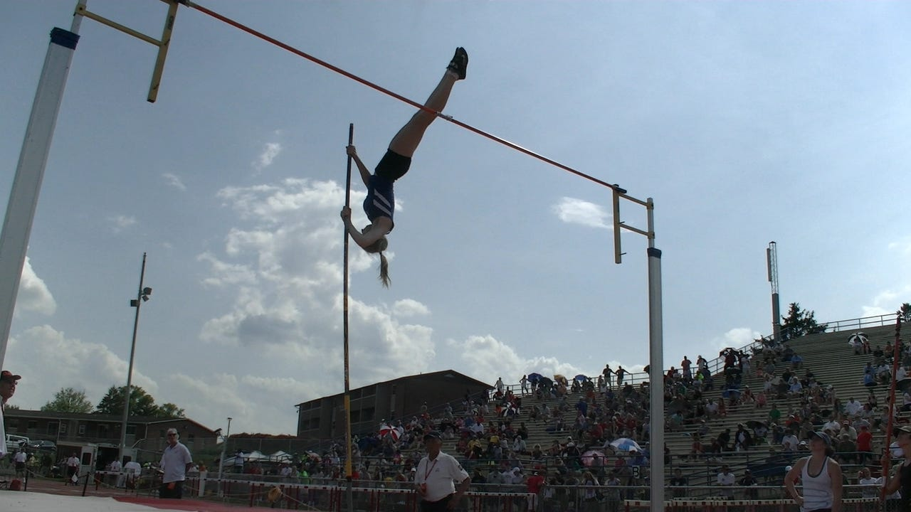 Spring Grove senior Nathalie Elliott set the District 3 Class 3A pole vault record by clearing 12 feet, 6 inches Friday, May 19, 2017.