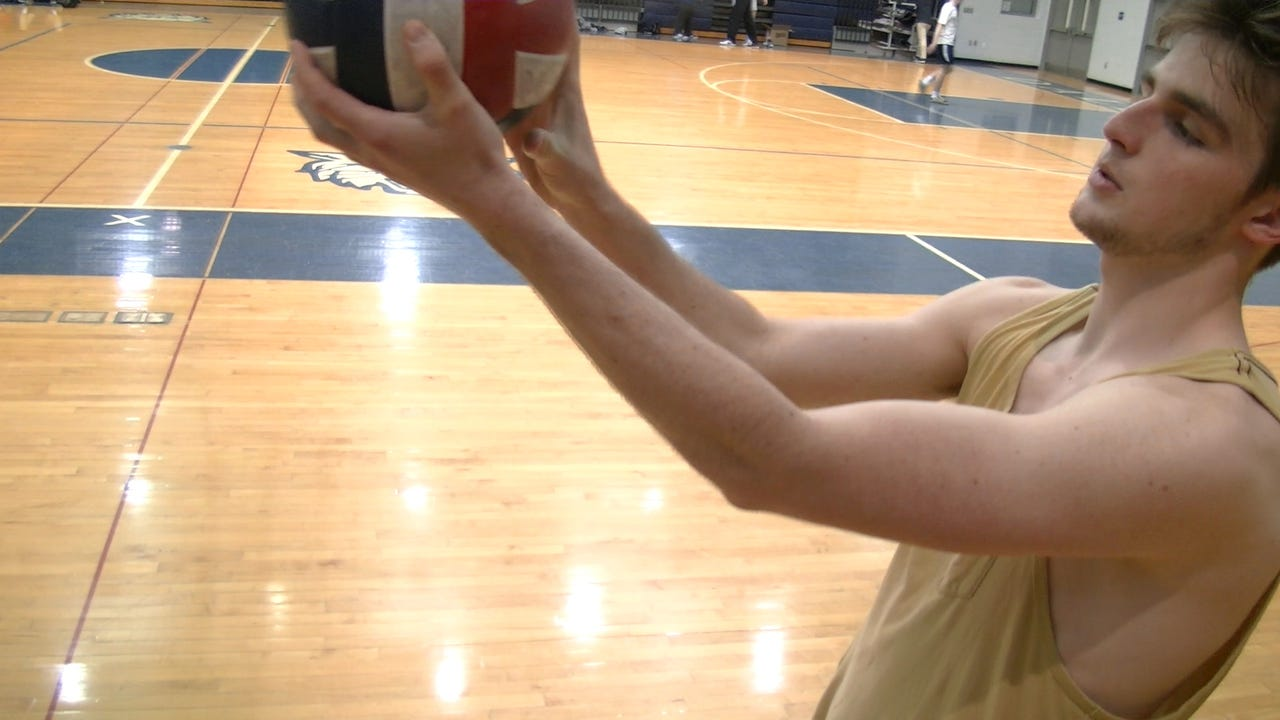 Dallastown volleyball players explain how to perform a float serve.
