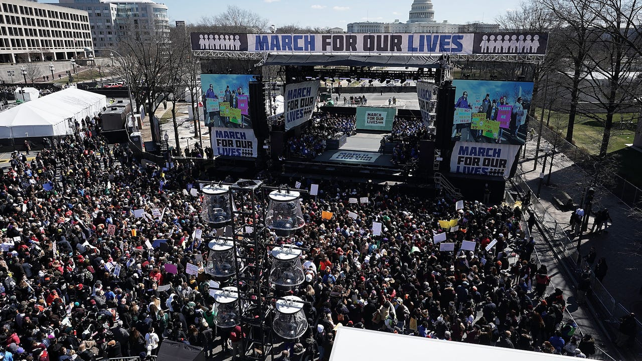 From Washington D.C. to Paris, young voices resound in protest against gun violence.