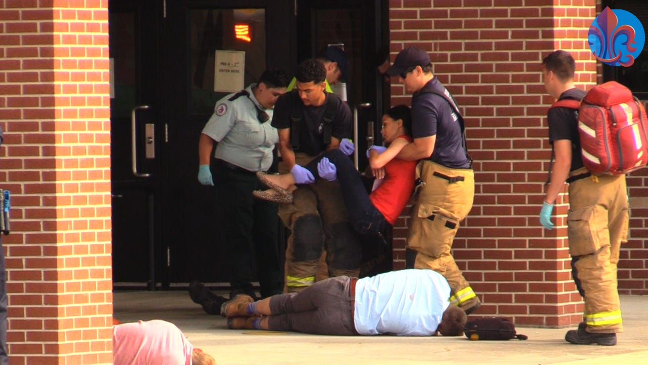 "Lafayette Police Department hosted a multi-agency, ""Active Threat Response"" training at J. Wallace James Elementary Tuesday. The training simulated a situation where multiple police, fire and emergency medical personnel respond to an active threat."