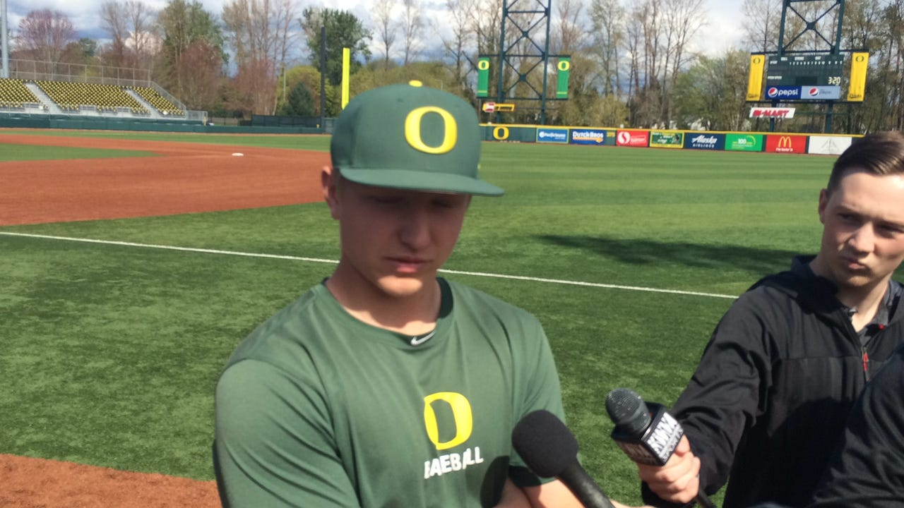 Oregon's Gabe Matthews talks about the Ducks' lineup issues.