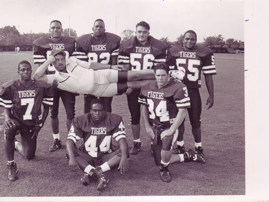 Former BBHS defensive coordinator Dawson Durbin took the laid-back approach to this Tigers' defensive standout picture day photo from the early 1990s.