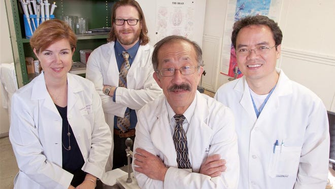 "From left, Dr. Kimberly Simpson, associate professor, Dr. Ryan Darling, assistant professor, Dr. Rick Lin, professor, and Dr. Yuegen ""Jordan"" Lu, assistant professor."