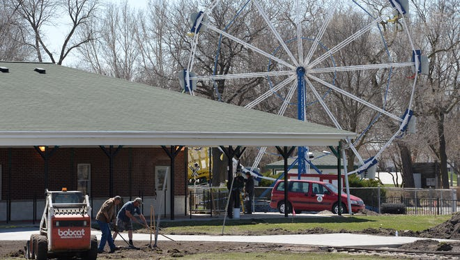 City of Green Bay Parks and Recreation Department workers spent much of last week getting the new train station area finished at Bay Beach Amusement Park.