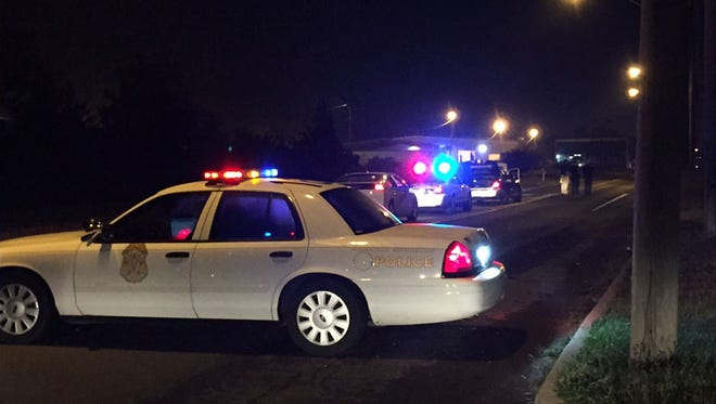 IMPD said a 48-year-old man hit a squad car before taking off near 25th Street and Sherman Drive.