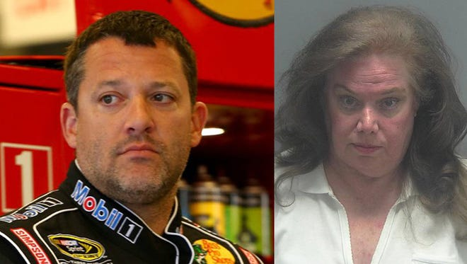 Retired NASCAR driver Tony Stewart and alleged stalker Kathi Russell,
