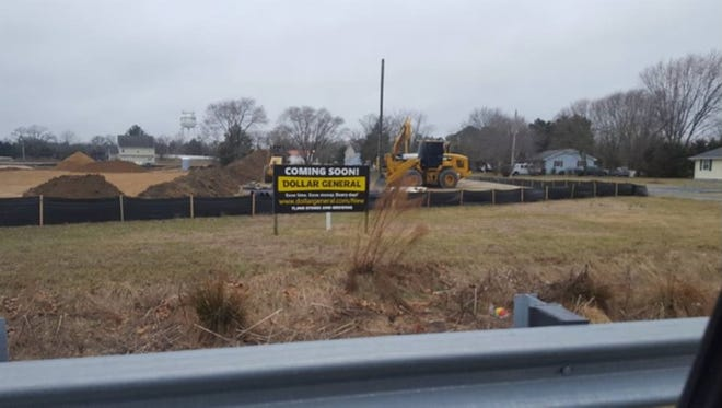 Construction on a new Dollar General in Sharptown is currently underwar.