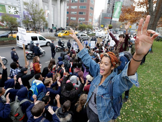 Protesters demonstrate in Union Square in New York