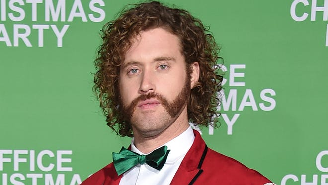 T.J. Miller at premiere of 'Office Christmas Party' in Los Angeles, Dec. 7, 2016.