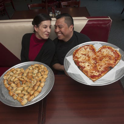 Chef Gelacio Morales and Lauren Echevarria, who work