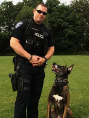 Pataskala K-9 officer Alex Colles and his partner,