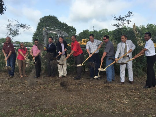 Ground was broken July 20 on a $4.2 million drainage