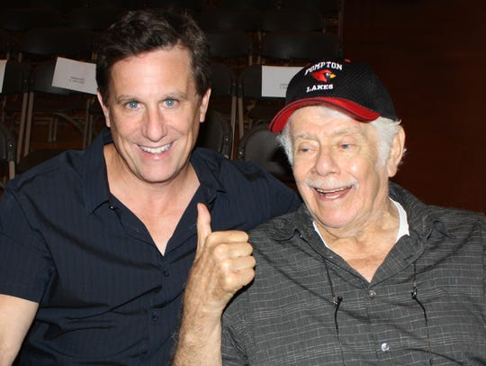 Pompton Lakes native Steve Monarque and actor Jerry Stiller pose for promotion of the film Simpler Times in July 2014. Primarily filmed in Pompton Lakes and West Milford, the short film starring Jerry Stiller makes its television premiere on Dec. 24, 2017.