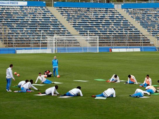 Colombia se prepara para para el partido contra Chile