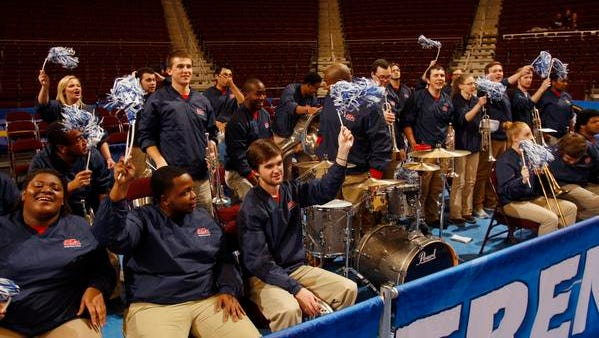 Ole Miss' band played for Kentucky during its game due to the Wildcats' getting snowed-in.