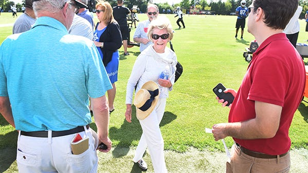 Martha Firestone Ford leaves Lions mini-camp Tuesday in Allen Park.