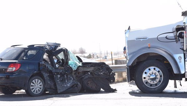 The driver of a Subaru was seriously injured in a car vs. semi crash on Colorado Highway 1 on Monday, Feb. 29.