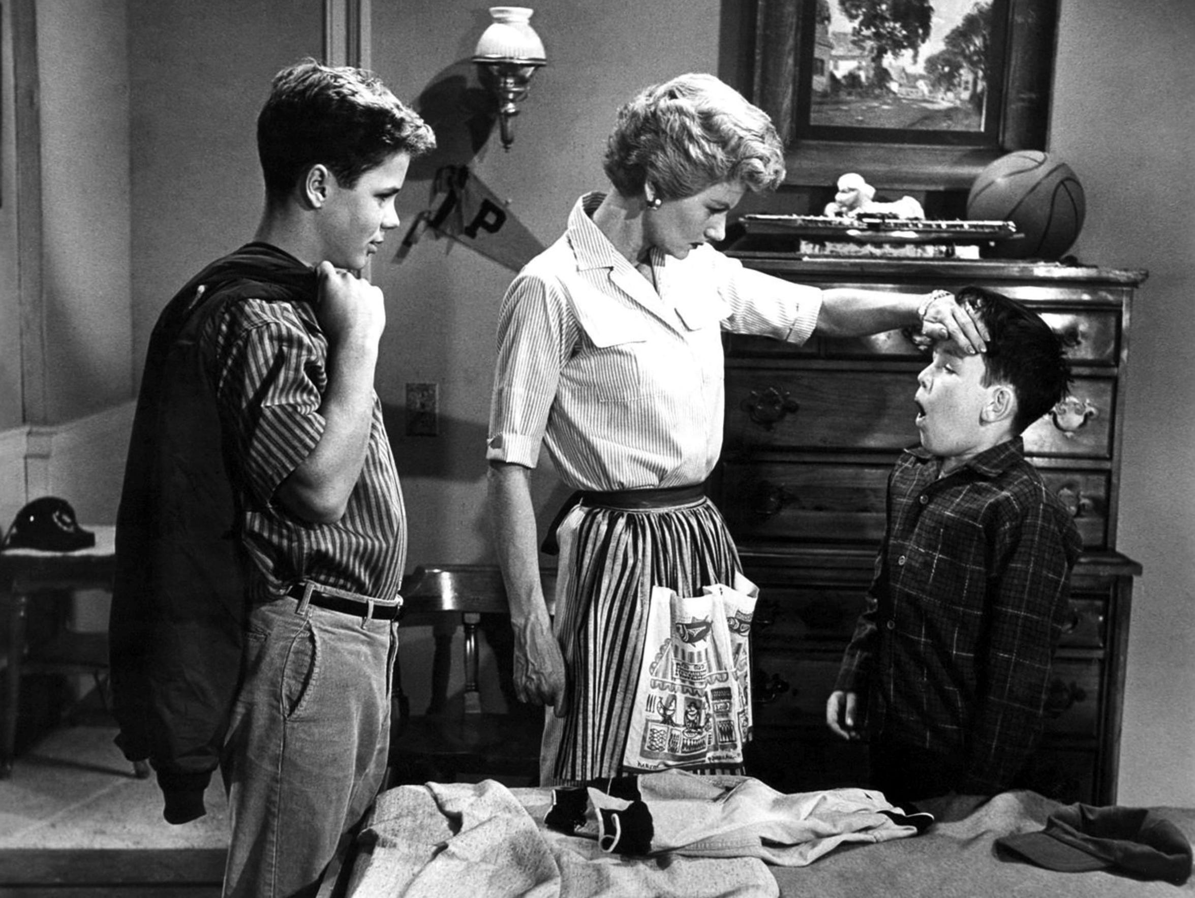 """In a scene of """"Leave It to Beaver"""" from May 22, 1958,"""