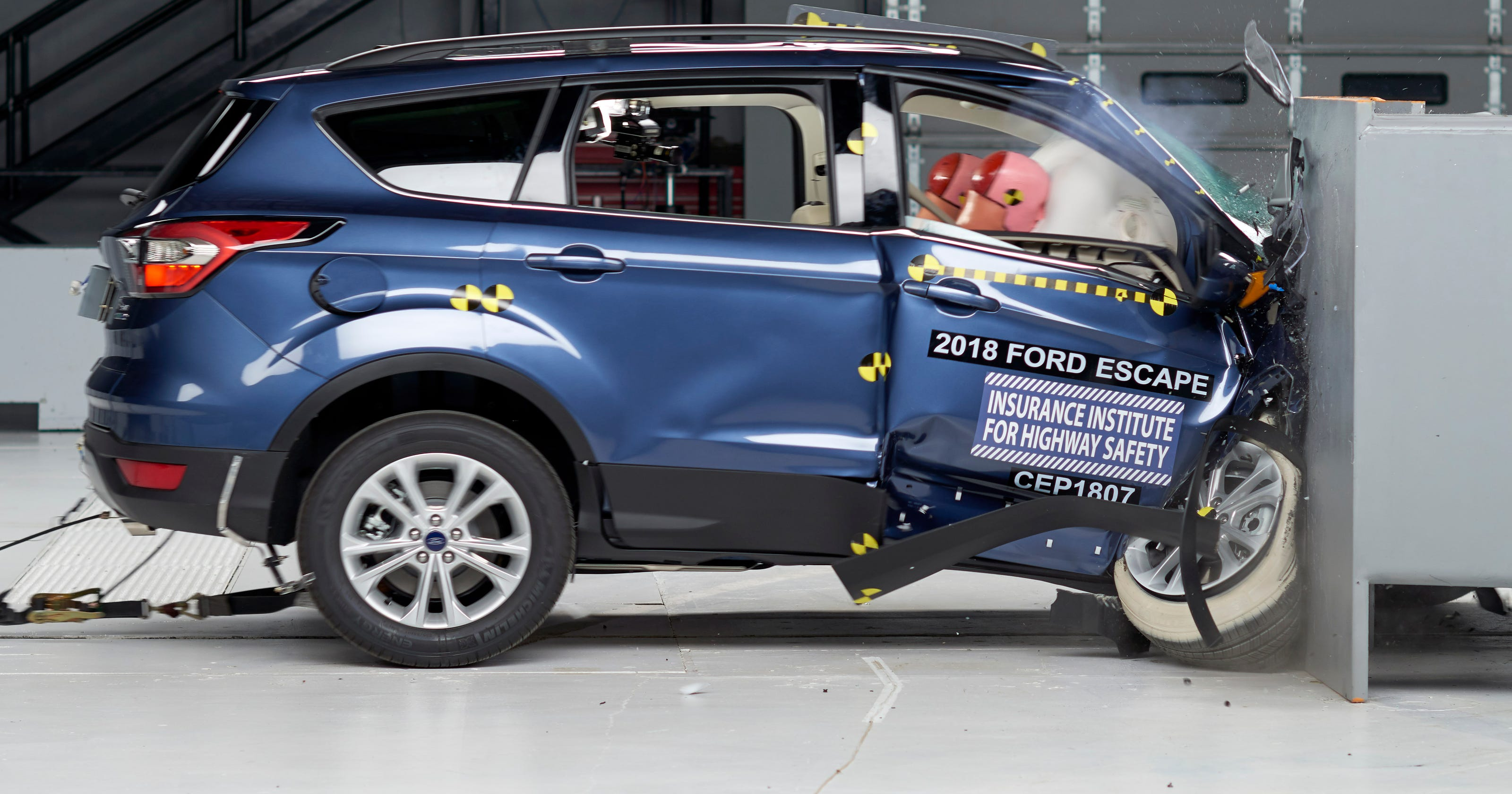 Ford Escape rated 'poor' in IIHS crash tests of 7 smaller SUVs