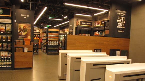 The Amazon Go convenience store at Amazon's headquarters