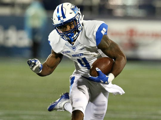 MTSU running back and Murfreesboro native I'Tavius Mathers will play his last game in front of his hometown on Saturday.