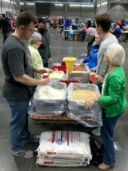 More than half of the 100,000 meals packaged at the