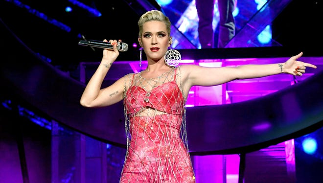 Katy Perry performs onstage with Zedd at Coachella Stage during the 2019 Coachella Valley Music And Arts Festival on April 14, 2019 in Indio, Calif.