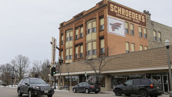Schroeder's Department Store at its current location Dec. 20 in Two Rivers. The store was founded in 1891 and has been at its current location since 1899.