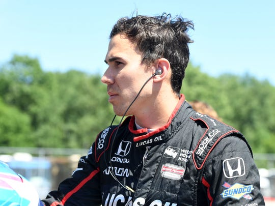 Verizon Indy Car driver Robert Wickens (6) during qualifying