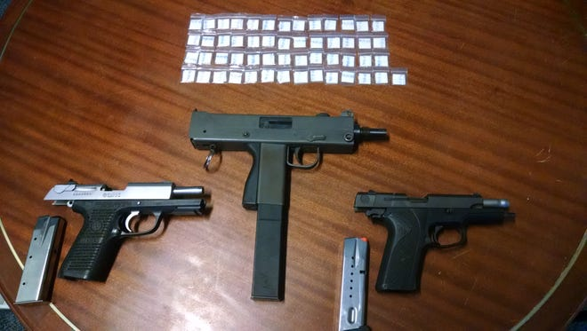 These guns were retrieved from a New Castle home.
