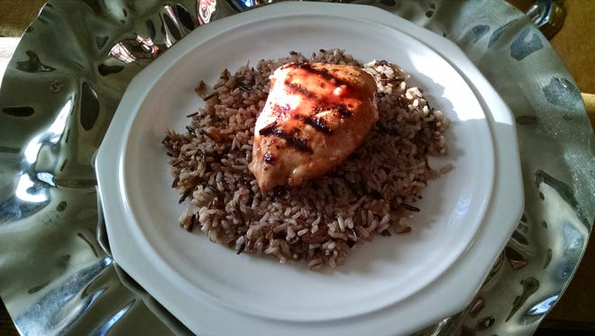Chicken pairs well with rice for a simple, quick meal.