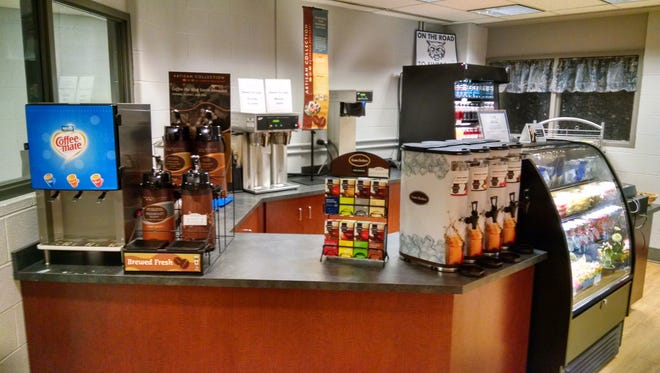 Dallastown Area School District's coffee shop, located in the high school library, was opened two years ago and is wildly popular, according to Jim Dierolf, director of food services.