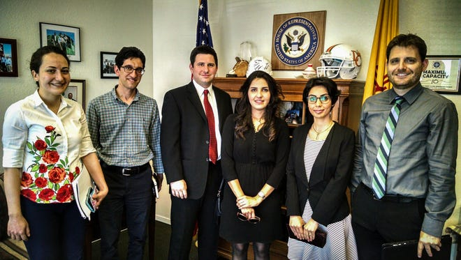 Las Cruces-area members of the National Iranian American Councilmet Monday with Congressman Steve Pearce's staff.