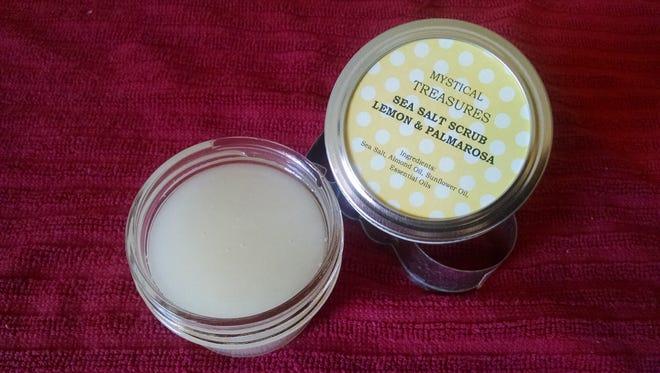 Homemade sea salt scrub from Mystical Treasures, a Montana Made certified business.