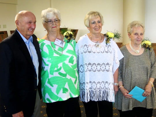 Fair Park Class of 1958 Reunion Committee members included: Elmer Hermes, Linda Hudson Frazier, Frances Wolfe Owens, Connie McCann Borland.