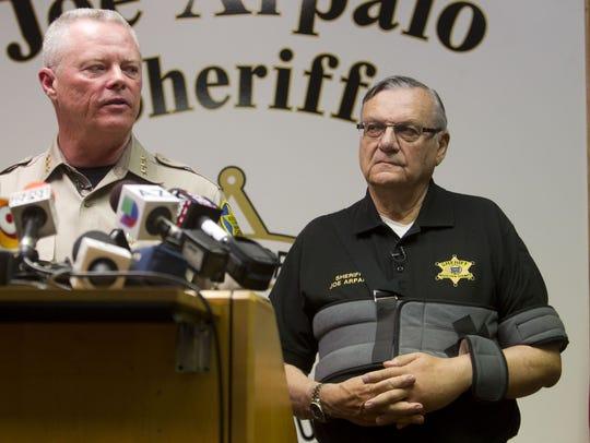 Jerry Sheridan, (left) chief deputy of the Maricopa