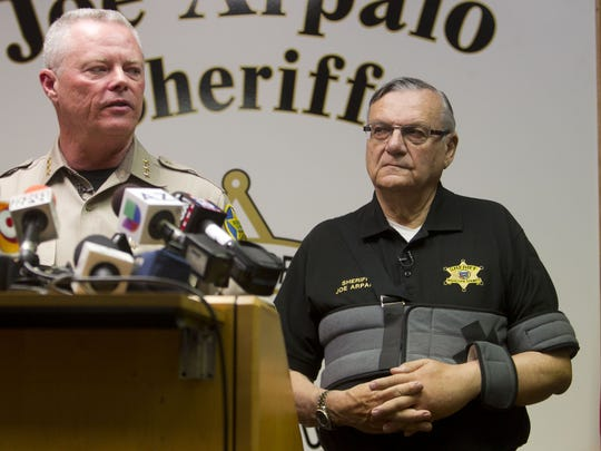Jerry Sheridan, (left) chief deputy of the Maricopa
