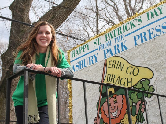 The annual Saint Patrick's Day parade marches along