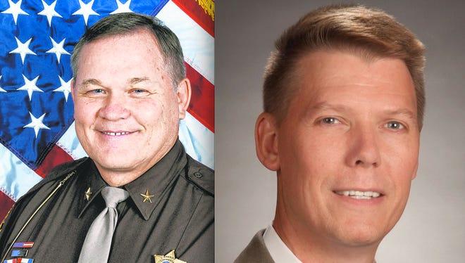 Livingston County Sheriff Bob Bezotte and Commissioner Steve Williams.