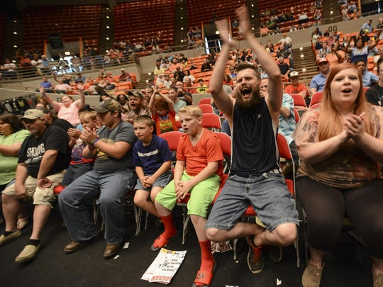 "The crowds cheered for their favorite wrestlers Thursday evening during Jerry ""The King"" Lawler's 40th Anniversary Celebration at Oman arena in Jackson."