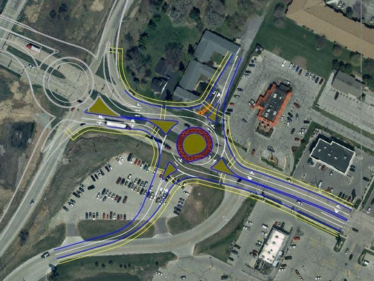 A concept drawing from 2011 for a roundabout at the